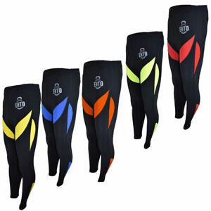 Ento Mens Thermal Cycling Tight Padded Long Pants Zipper Bike Leggings Cold Wear