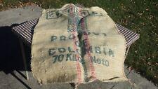 Large Burlap Columbian Coffee Bean Bag Gunny Sack Crafts Farm House Kitchen Deco