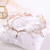 Crystal Tiara Wedding Bride Princess Rhinestone Hair Pearl Headband Crown Bridal