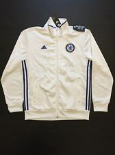adidas Chelsea CFC 3 Stripes Track Top Jacket White Mens Size S