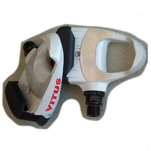 1pr VITUS LOOK DELTA alloy clipless road PEDALS WHITE blanc WITH RED CLEATS