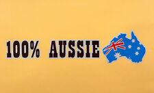 Reflective Stylish Decal Universal Sticker 100% Aussie Emblem H: 5cm x W: 19.6cm