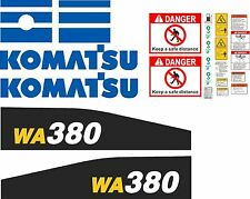 Komatsu WA380 Wheel Loader Decal Kit With Warnings - high quality aftermarket