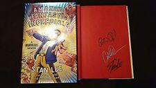 3x Signed Stan Lee Amazing Fantastic Incredible A Marvelous Memoir Book Comics