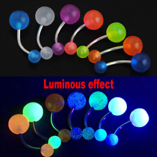 7pcs Glow in The Dark Belly Button Navel Bar Rings Body Piercing