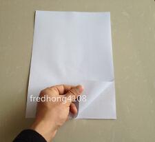 10 Sheets A4 PVC Matte Printable Self Adhesive Sticker Lazer Printer Paper white