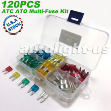 120 Pack ATC ATO APR ATS Blade Fuse Assortment Auto Car Motorcycle SUV FUSES Kit