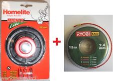 Homelite/RYOBI Doppelfadenkopf kpl.LTA016 F3035, HBC26, RBC30 + 15m Ersatzfaden*