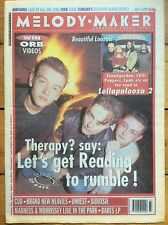 Melody Maker 15/8/92 Therapy? cover, Lollapalooza 2, Cud, Brand New Heavies