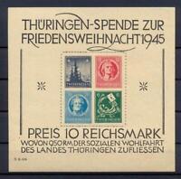 SBZ Block 2 t Thüringer Weihnachtsblock Originalgummi mit Erstfalzrest (us188)