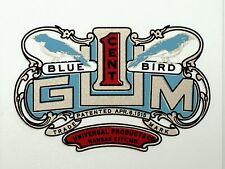 BLUEBIRD GUM ONE CENT. VENDING, COIN OP  WATER SLIDE DECAL # DB 1085