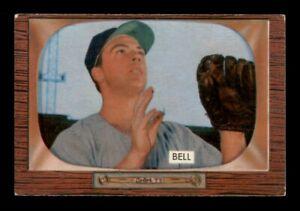 1955 Bowman Set Break #243 Gus Bell VG Crease *OBGcards*