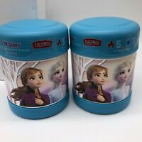 2 x New Thermos Disney Frozen Funtainer-Hot Cold Food Jar 10 oz-Anna Elsa Olaf