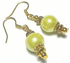 Glass Gold Plated Drop/Dangle Handcrafted Earrings