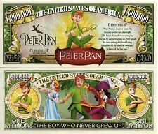 USA 1 Million Dollar banknote 'Peter Pan and characters' (Disney) - UNC & CRISP