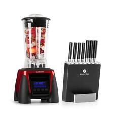 Frullatore Professionale Elettrico Smoothie Maker Set Coltelli Ceppo1800W Rosso