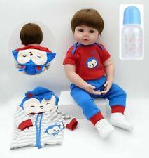"""19""""Lifelike Silicone Bambole Rinascere Sale Reborn Baby Doll Bambole Xmas Gift"""