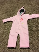 iplay Pink Fleece Hooded One Piece Outfit, Medium, 12 Months, 18-22 lbs