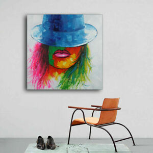 100% Hand Paint Modern Oil Painting On Canvas Home Decor Art Framed Sexy Lady