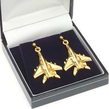 Mig 29 Fulcrum 22 Carat Gold Plated Earrings