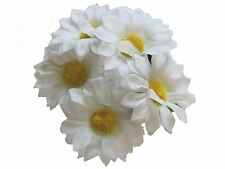 White Daisy Bun Garland Scrunchie Elastic Hair Accessories UK