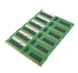 Job Lot x6 - Samsung 16GB 2Rx8 PC4-2400T-RE1-111-MCO (M393A2K43BB1-CRC4Q)