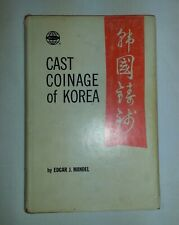 Cast Coinage Of Korea by Edgar Mandel Hard Cover w/Jacket 1972 Coin Money Book