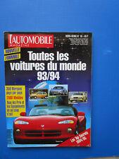 """L'Automobile """" TOUTES LES VOITURES DU MONDE """"  1993-1994 Hors-Série  N° 16"""