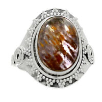 Bali Design - Cacoxenite 925 Sterling Silver Ring Jewelry s.8 RR199207