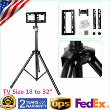 Tripod Tv Stand-Television Lcd Flat Panel Monitor Mount 18' to 32� Steel Alloy