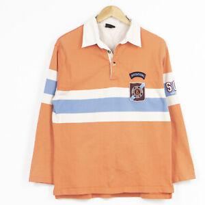 Vintage Bogner Rugby Shirt Jumper Orange Mens Size M