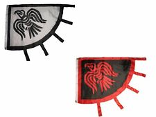 3x4 Wholesale Combo Viking Raven Black Red & Black White Flag 3'x4' (2 Pack) Set