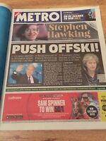 Stephen Hawking Obituary Front Page Brief History Newspaper The Metro 15/03/2018