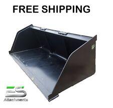 """Es 84"""" Snow/Mulch Bucket- skid steer quick attach bucket *Free Shipping*"""