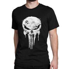 Punisher Skull Graphic T-Shirt, Premium Cotton Marvel Comics Tee