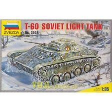 T-60 Soviet Light Tank, Zvezda 3508, M 1:35 2. Weltkrieg Panzer Rote Armee UdSSR