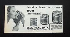 F512 - Advertising Pubblicità - 1953 - ELLO PLACENTA , POTENTE ANTIRUGHE