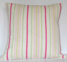 "Ashley Wilde Ellacombe Stripe in Sorbet 16""  Cushion Cover"