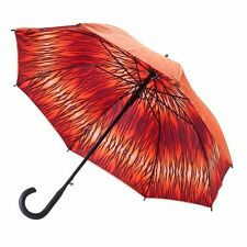 Woman's Orange Tiger Double Cover Cane Auto Open Umbrella 48""