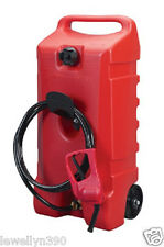 DURAMAX Flo N' Go  14 Gallon Gas Can Fuel Caddy Transfer Pump SCEPTER 06792 NEW!