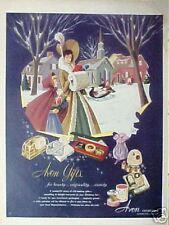 1951 Avon Cosmetics Christmas Gifts Winter Art AD