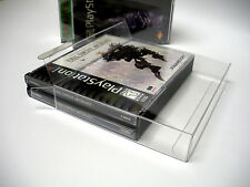 5 Clear Dual CD Game Box Jewel Case Protectors Playstation, Dreamcast