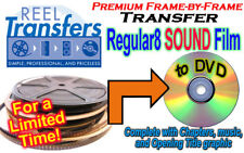 REGULAR 8mm SOUND film transfer to DVD  (Frame-by-Frame, Great Quality!)