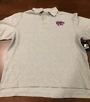 NWT Men's Starter Kansas State Wildcat Embroidered Polo Size L Gray