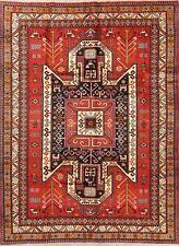 Tribal Geometric Ardebil Oriental Area Rug Wool Hand-Knotted 7x9 Nomadic Carpet