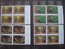 RWANDA 1988 COT. 64 € BLOCS OF 4 MONKEY MNH** BUZIN / SINGES