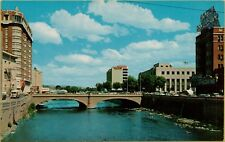VTG Truckee and Virginia Street Bridge in Reno Nevada NV Postcard