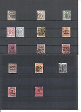 Deutsches Reich 1905 - 1923, Dienstmarken, Einzelwerte aus MiNrn: 9 - 98 o, BPP
