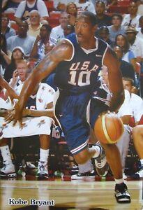 "KOBE BRYANT ""OLYMPICS TEAM U.S.A."" POSTER - L.A. Lakers Basketball Superstar"