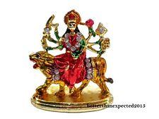 Car Dashboard Decorative Goddess Durga Kali maa Statue Office Table Metal Decor